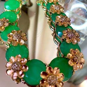 Gorgeous Talbots Summer Green Rhinestone Necklace